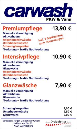 Waschpreisschild (Andere)